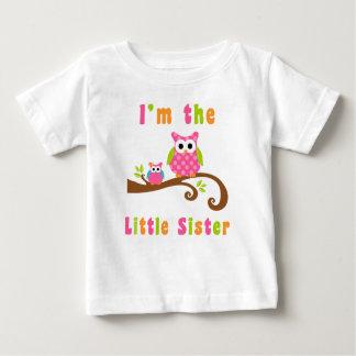 Im die kleine Schwester-niedlichen rosa Eulen Baby T-shirt
