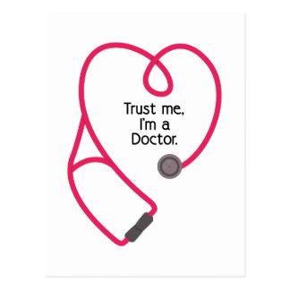 Im ein Doktor Postkarte