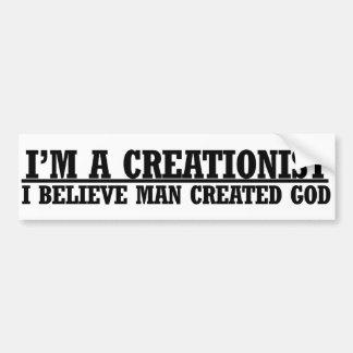 Im ein lustiger atheistischer Spaß des Creationist Auto Aufkleber