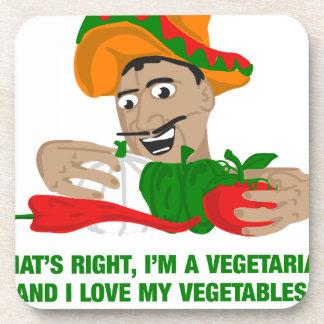 Im ein Vegetarier und i-Liebe mein Gemüse Getränkeuntersetzer