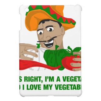 Im ein Vegetarier und i-Liebe mein Gemüse Hülle Für iPad Mini