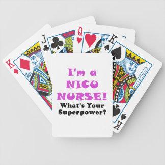 Im eine Nicu Krankenschwester, was Ihre Supermacht Bicycle Spielkarten