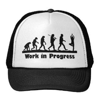 Im Entstehen befindliches Werk (Yoga) Baseball Kappen