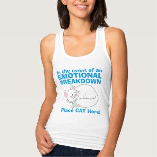 Im Falle des emotionaler Tanktop