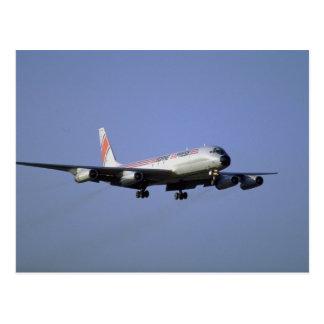 Im Flugzeug Eil-DC-8 Postkarte