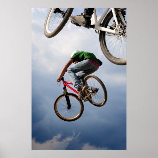 im Flugzeug Fahrräder Plakatdruck