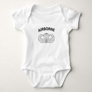 Im Flugzeug Logo Baby Strampler