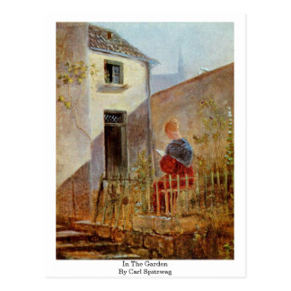Im Garten durch Carl Spitzweg Postkarte