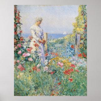 Im Garten durch Childe Hassam, Vintage feine Kunst Poster