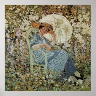 Im Garten Giverny durch Frederick Frieseke Poster