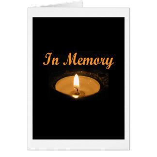 Im Gedächtnis-Kerzen-Glühen Karte