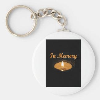 Im Gedächtnis-Kerzen-Glühen Schlüsselanhänger