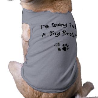 Im gehend, ein großer Bruder zu sein - Ärmelfreies Hunde-Shirt