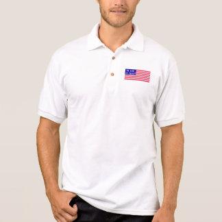 Im Gott vertrauen wir amerikanischer Flagge Polo Shirt