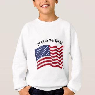 Im Gott vertrauen wir mit US-Flagge Sweatshirt