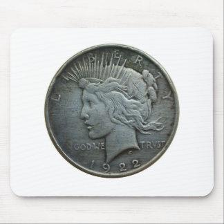 Im GOTT vertrauen wir - Münze von 1922 Mousepads