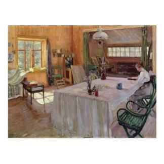 Im Haus des Künstlers Konstantin Korovin Postkarte