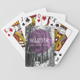 Im Holz wandern | weit und breit Zitat Spielkarten