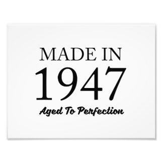 Im Jahre 1947 gemacht Photodrucke