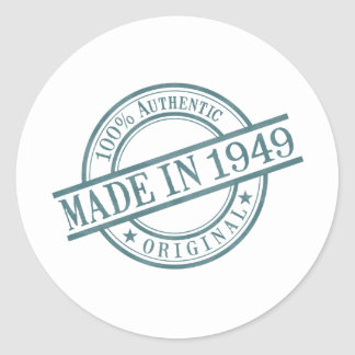 Im Jahre 1949 gemacht Runder Aufkleber