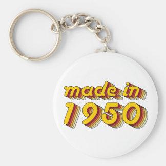Im Jahre 1950 gemacht (Yellow&Red) Schlüsselanhänger