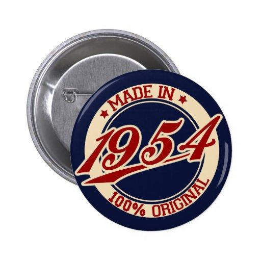 Im Jahre 1954 gemacht Button