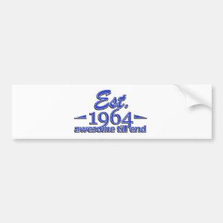 Im Jahre 1964 hergestellt Autoaufkleber