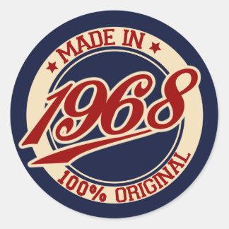 Im Jahre 1968 gemacht Runder Aufkleber