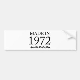 Im Jahre 1972 gemacht Autoaufkleber