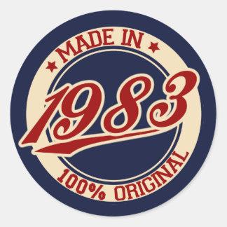 Im Jahre 1983 gemacht Runder Aufkleber