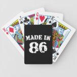 Im Jahre 1986 gemacht Spielkarten