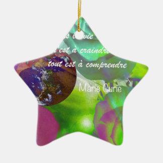 Im Leben wird alles nicht verstanden Keramik Stern-Ornament