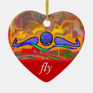 IM Morgen-Fliege/hintere Verzierung Keramik Ornament