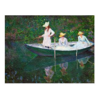 Im norwegischen Boot bei Giverny Claude Monet Postkarte