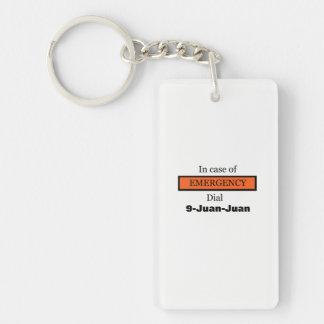 Im Notfall Skala 9-Juan-Juan Schlüsselanhänger
