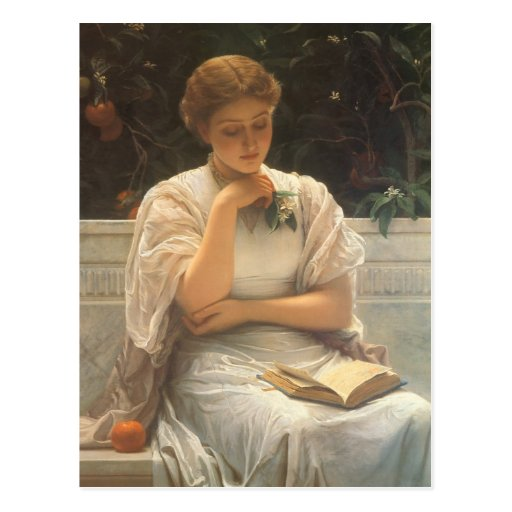Im Orangery durch Charles Edward Perugini Postkarten