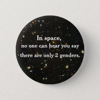 Im Raum kann niemand Sie hören zu sagen… Runder Button 5,7 Cm