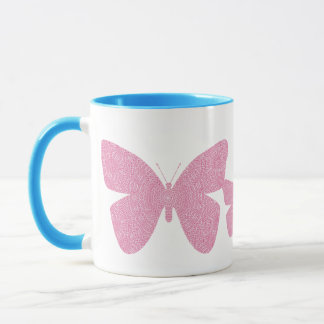 Im rosa Schmetterling Tasse