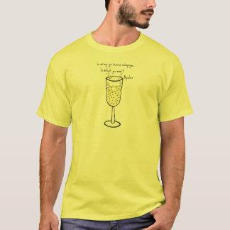 Im Sieg verdienen Sie Champagnerdruck durch Jill T-Shirt