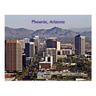 Im Stadtzentrum gelegene Ansicht von Phoenix, Postkarte