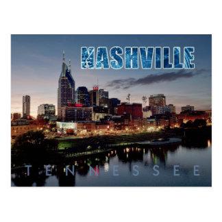 Im Stadtzentrum gelegene Nashville-Skyline, Postkarte