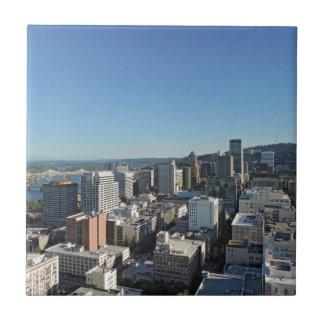 Im Stadtzentrum gelegene Portland-Skyline Keramikfliese