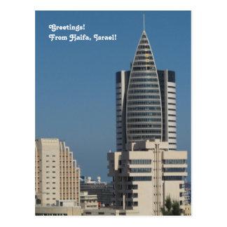 Im Stadtzentrum gelegene Postkarte
