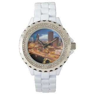 Im Stadtzentrum gelegene Stadt-Ansicht Armbanduhr