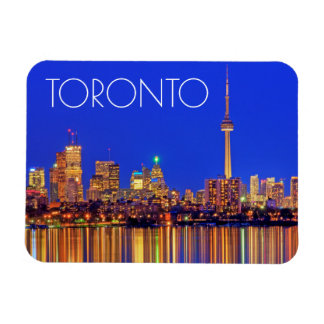 Im Stadtzentrum gelegene Toronto-Skyline nachts Magnet