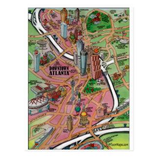 Im Stadtzentrum gelegenes Atlanta Georgia Postkarte