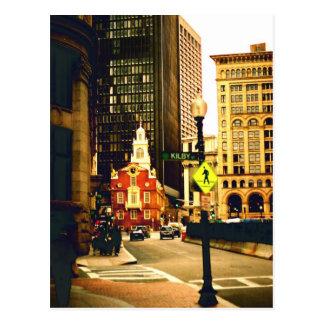 Im Stadtzentrum gelegenes Boston auf Kilby Straße Postkarte