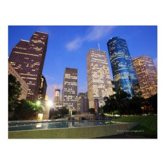 Im Stadtzentrum gelegenes Houston, Texas Postkarte