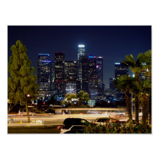 Im Stadtzentrum gelegenes Los Angeles Poster