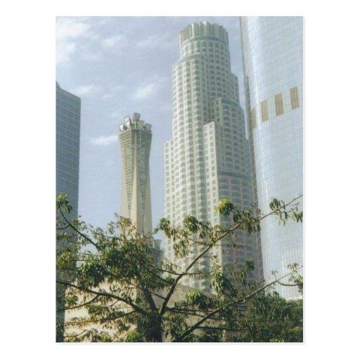 Im Stadtzentrum gelegenes Los Angeles Postkarte